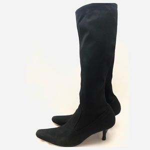 Cole Haan Boot Stretch Pull On Knee High 9.5 Black